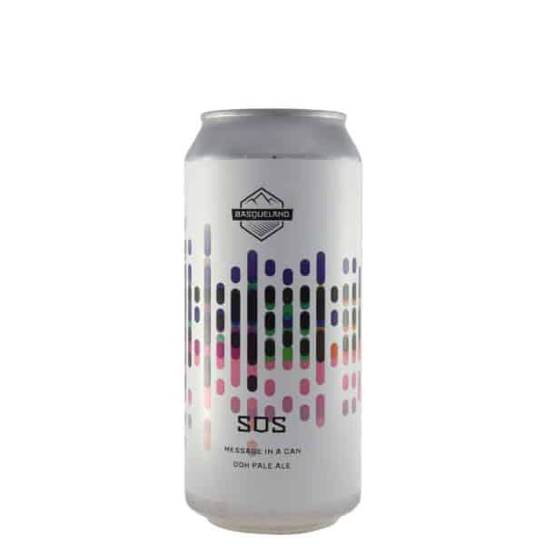 Basqueland - SOS (Message in a can). Cerveza vendida por la tienda online de El Retrogusto es mío. Sarriguren