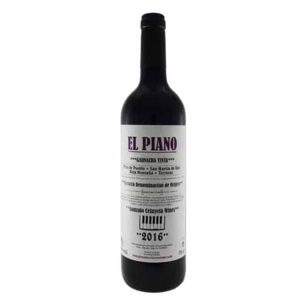 Gonzalo Celayeta - El Piano. Vino vendido por la tienda online de El Retrogusto es mío. Sarriguren