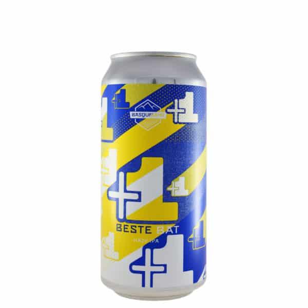 Basqueland - Beste Bat (Hazy IPA).Cerveza vendida por la tienda online de El Retrogusto es mío. Sarriguren